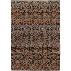 "3' 3"" X  5' 2"" Casual Multi/ Blue Rectangle"