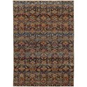 """Oriental Weavers Andorra 6' 7"""" X  9' 6"""" Casual Multi/ Blue Rectangle  - Item Number: AND6836C67X96"""