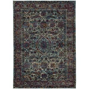 Oriental Weavers Andorra 5 3 X 7 Casual Blue Purple