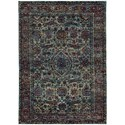 "Oriental Weavers Andorra 5' 3"" X  7' 3"" Casual Blue/ Purple Rectangle - Item Number: AND6846B53X73"