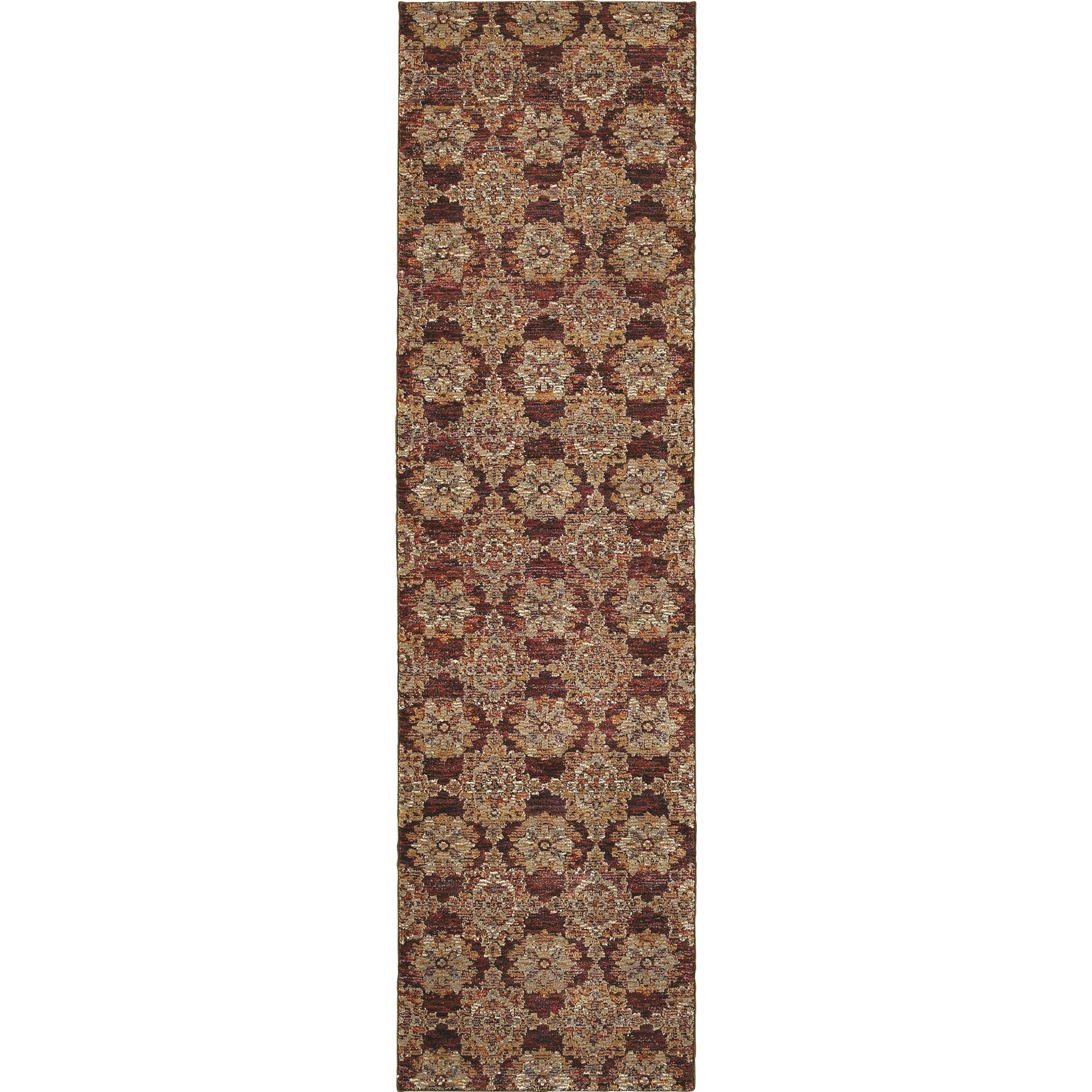 """Andorra 2' 3"""" X  8' 0"""" Casual Red/ Gold Runner Rug by Oriental Weavers at Steger's Furniture"""