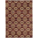 """Oriental Weavers Andorra 6' 7"""" X  9' 6"""" Casual Red/ Gold Rectangle Ru - Item Number: AND6883A67X96"""