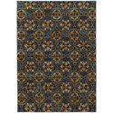 """Oriental Weavers Andorra 3' 3"""" X  5' 2"""" Casual Blue/ Gold Rectangle R - Item Number: AND6883C33X52"""