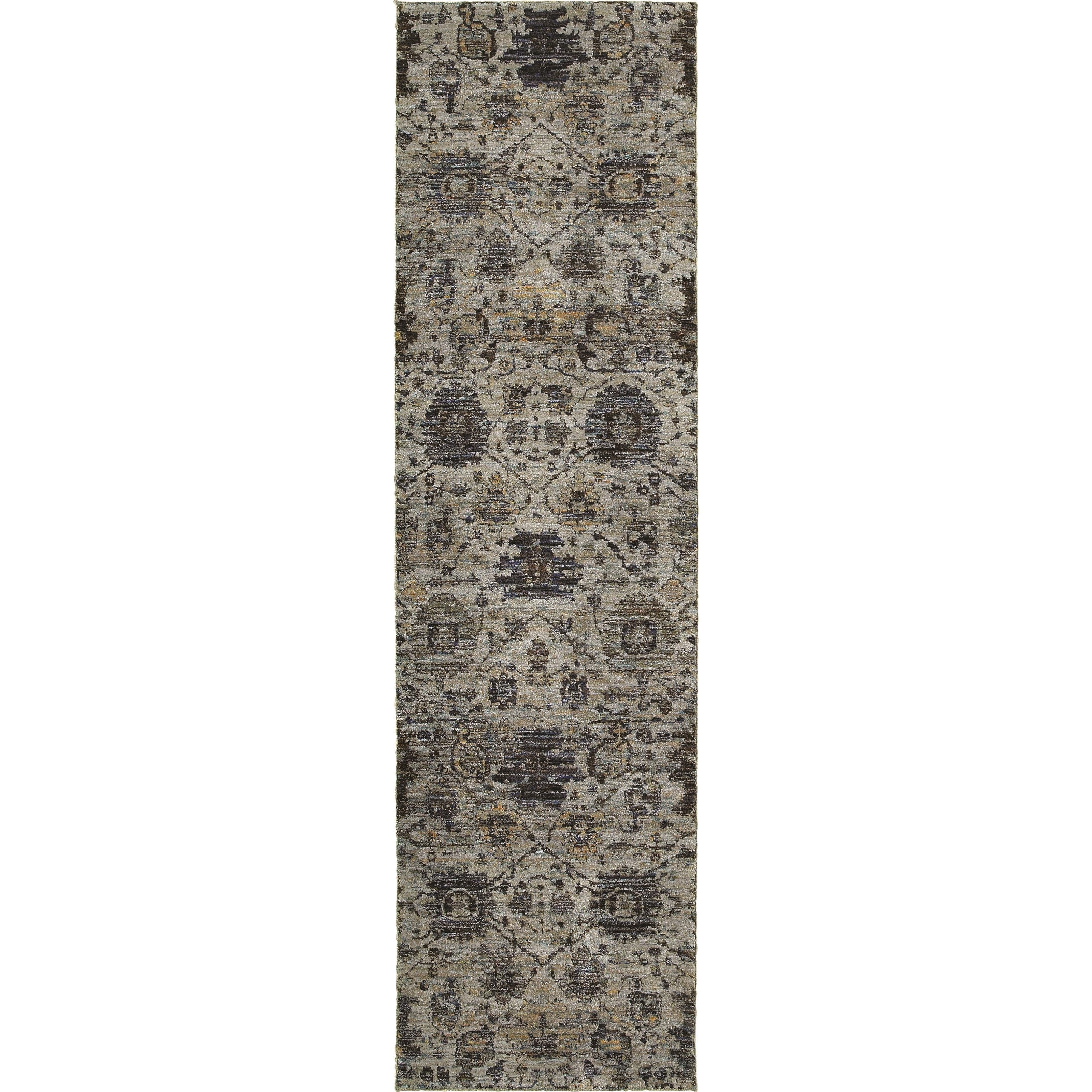 "Andorra 2' 3"" X  8' 0"" Casual Blue/ Navy Runner Rug by Oriental Weavers at Steger's Furniture"
