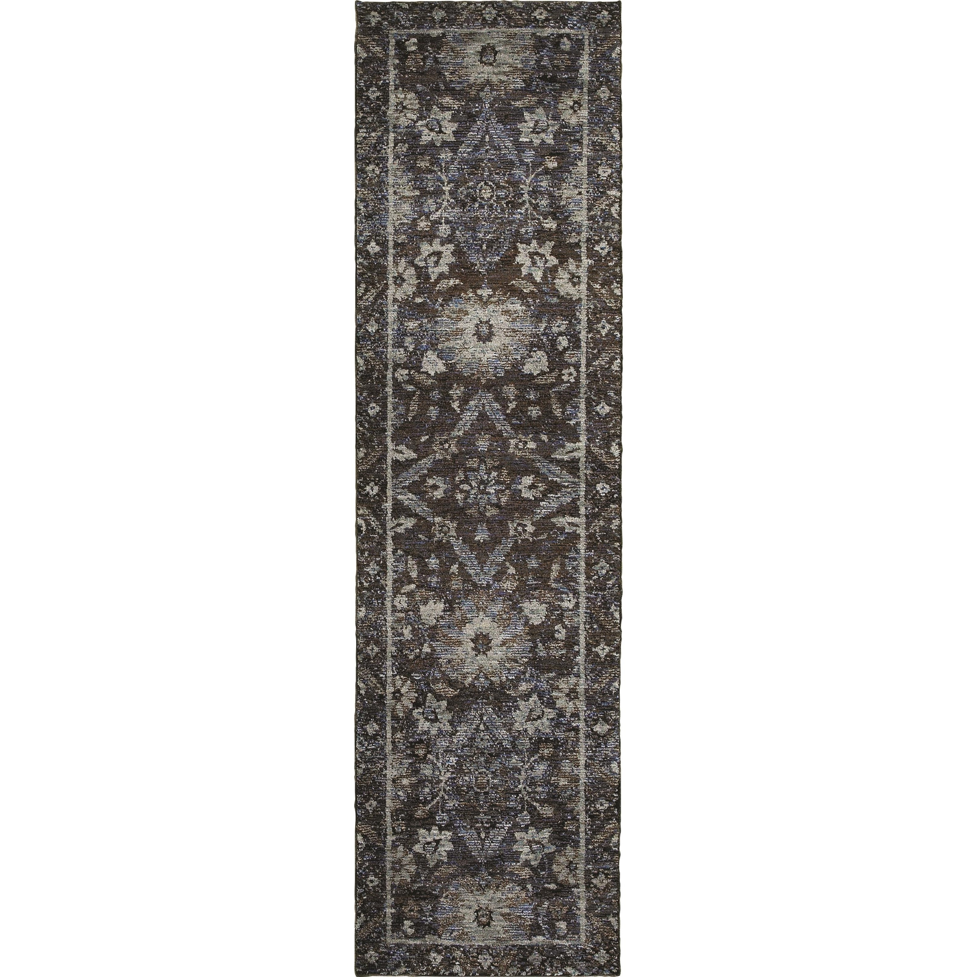 "Andorra 2' 3"" X  8' 0"" Casual Navy/ Blue Runner Rug by Oriental Weavers at Steger's Furniture"