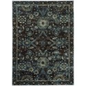 """Oriental Weavers Andorra 3' 3"""" X  5' 2"""" Casual Navy/ Blue Rectangle R - Item Number: AND7124A33X52"""