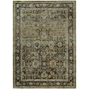 """Oriental Weavers Andorra 8' 6"""" X 11' 7"""" Casual Green/ Brown Rectangle - Item Number: AND7125C86X117"""