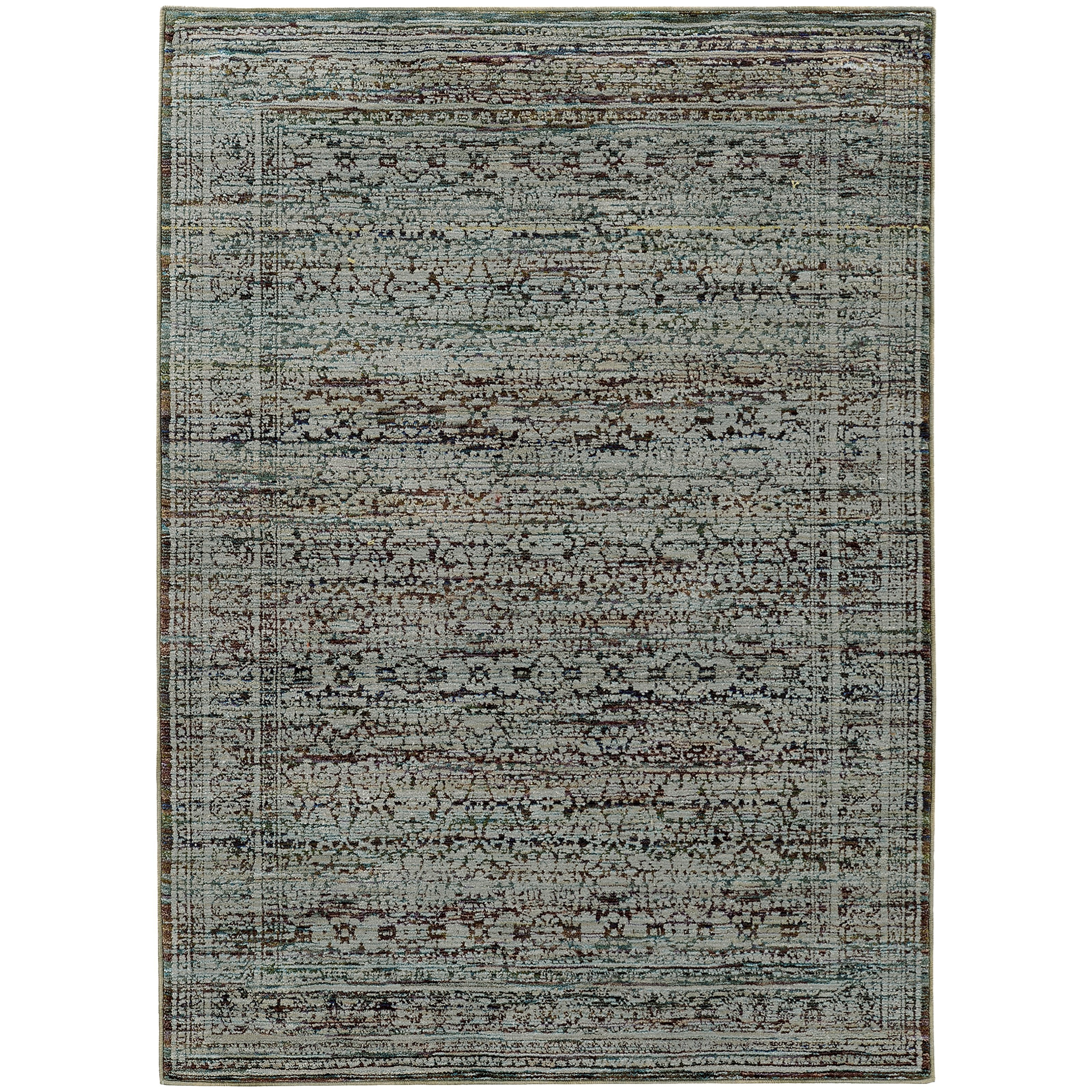 """Andorra 5' 3"""" X  7' 3"""" Casual Blue/ Purple Rectangle by Oriental Weavers at Steger's Furniture"""