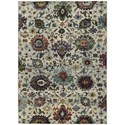 """Oriental Weavers Andorra 1'10"""" X  3' 2"""" Casual Stone/ Multi Rectangle - Item Number: AND7129A110X32"""