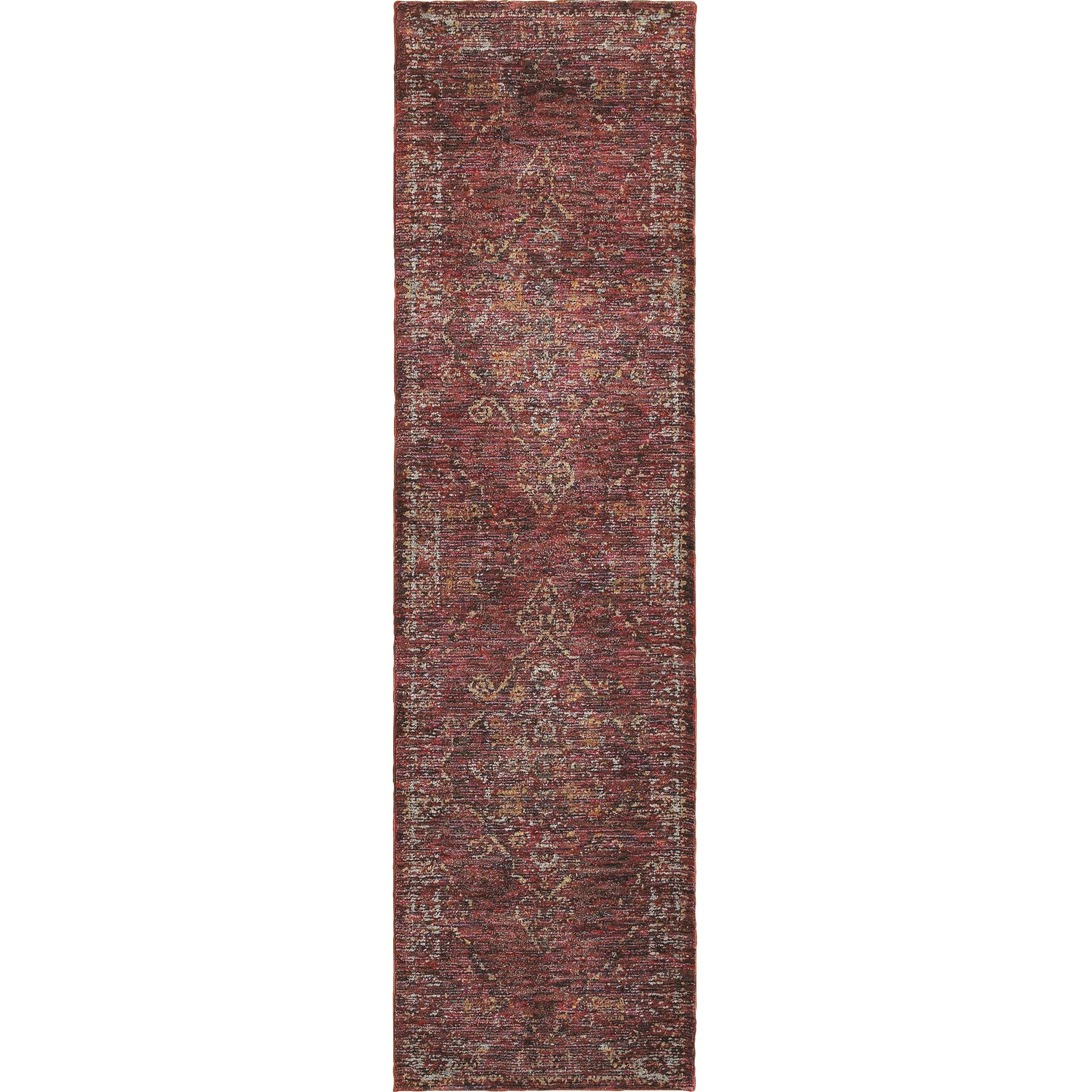 "Andorra 2' 3"" X  8' 0"" Casual Red/ Gold Runner Rug by Oriental Weavers at Steger's Furniture"