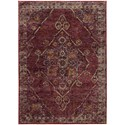 """Oriental Weavers Andorra 5' 3"""" X  7' 3"""" Casual Red/ Gold Rectangle Ru - Item Number: AND7135E53X73"""