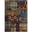 """Oriental Weavers Andorra 6' 7"""" X  9' 6"""" Casual Multi/ Blue Rectangle  - Item Number: AND7137A67X96"""
