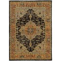 """Oriental Weavers Andorra 5' 3"""" X  7' 3"""" Traditional Gold/ Grey Rectan - Item Number: AND7138B53X73"""