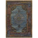 """Oriental Weavers Andorra 5' 3"""" X  7' 3"""" Traditional Blue/ Multi Recta - Item Number: AND7139A53X73"""