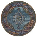 """Oriental Weavers Andorra 7'10"""" Round Rug - Item Number: AND7139A710ROUND"""