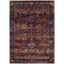 """Oriental Weavers Andorra 5' 3"""" X  7' 3"""" Casual Red/ Purple Rectangle  - Item Number: AND7153A53X73"""