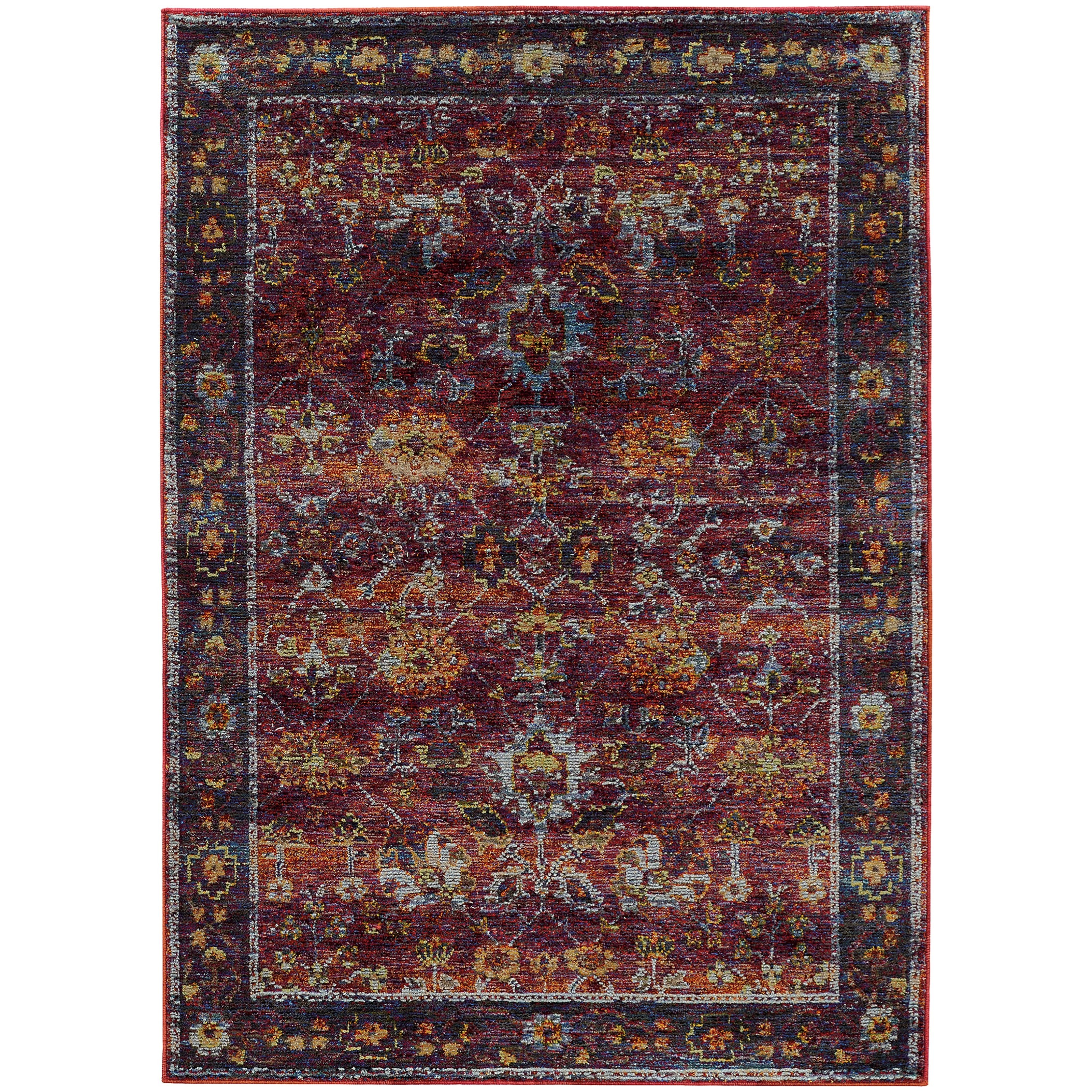"""Andorra 6' 7"""" X  9' 6"""" Casual Red/ Purple Rectangle  by Oriental Weavers at Steger's Furniture"""