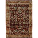 """Oriental Weavers Andorra 5' 3"""" X  7' 3"""" Casual Red/ Gold Rectangle Ru - Item Number: AND7154A53X73"""