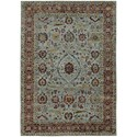 """Oriental Weavers Andorra 5' 3"""" X  7' 3"""" Casual Blue/ Red Rectangle Ru - Item Number: AND7155A53X73"""