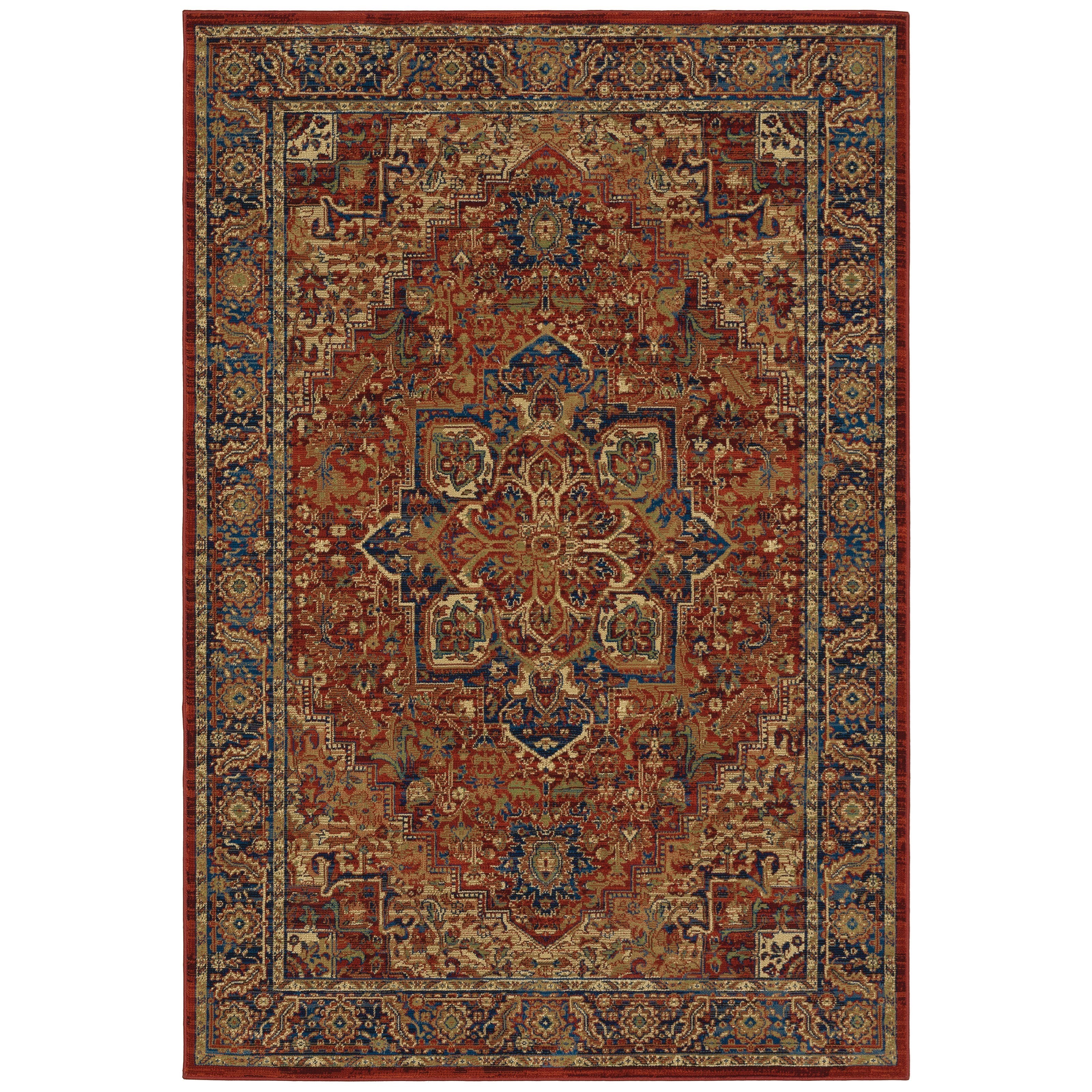 """Ankara 7'10"""" X 10'10"""" Rectangle Rug by Oriental Weavers at Darvin Furniture"""