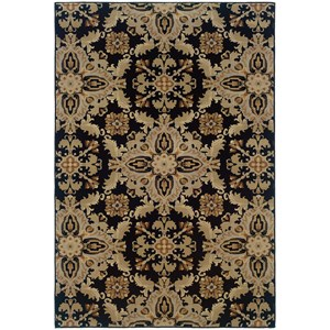 Oriental Weavers Ariana 4' X  6' Casual Black/ Green Rectangle Rug