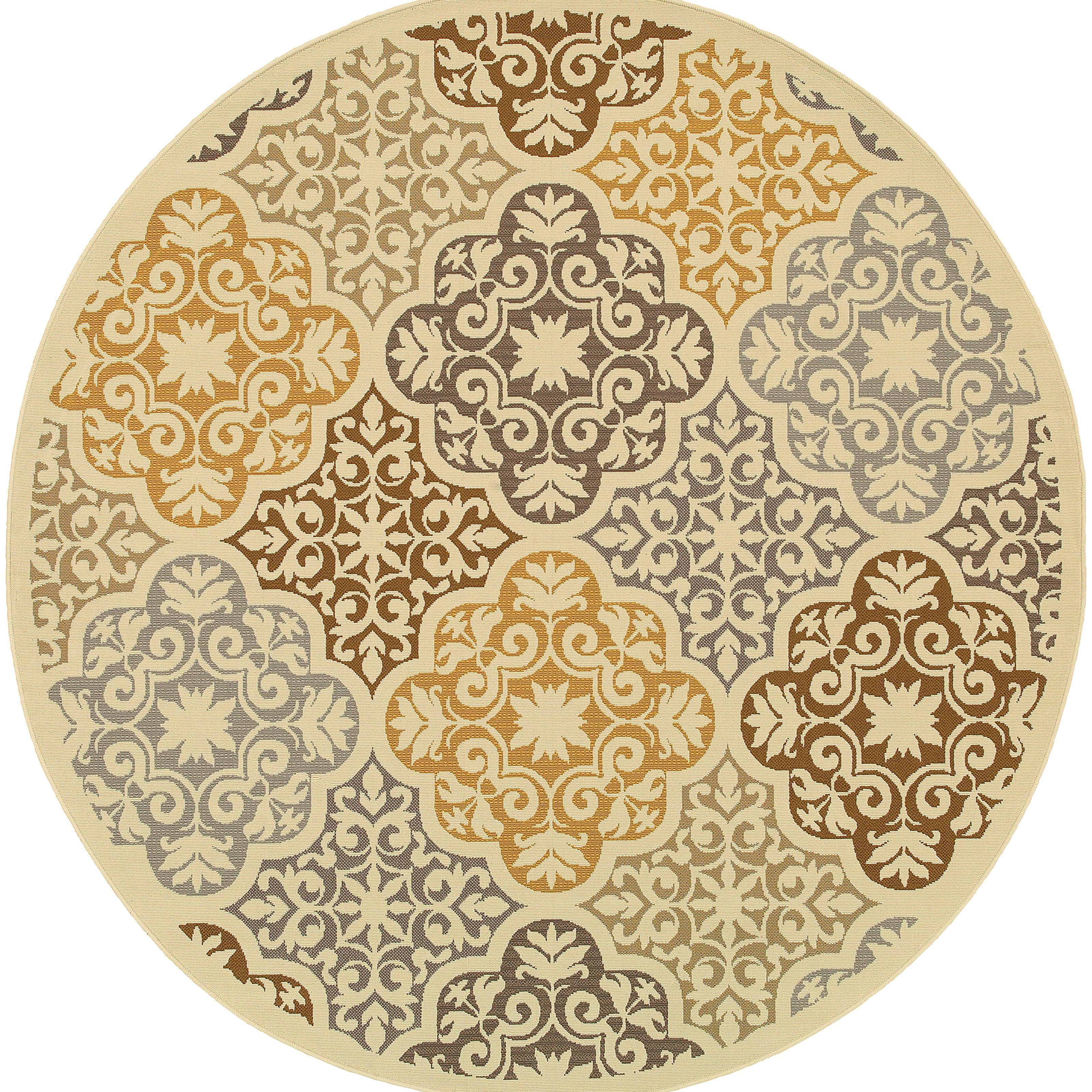 """Oriental Weavers Bali 7'10"""" X  7'10"""" Rug - Item Number: B4904W240RDST"""