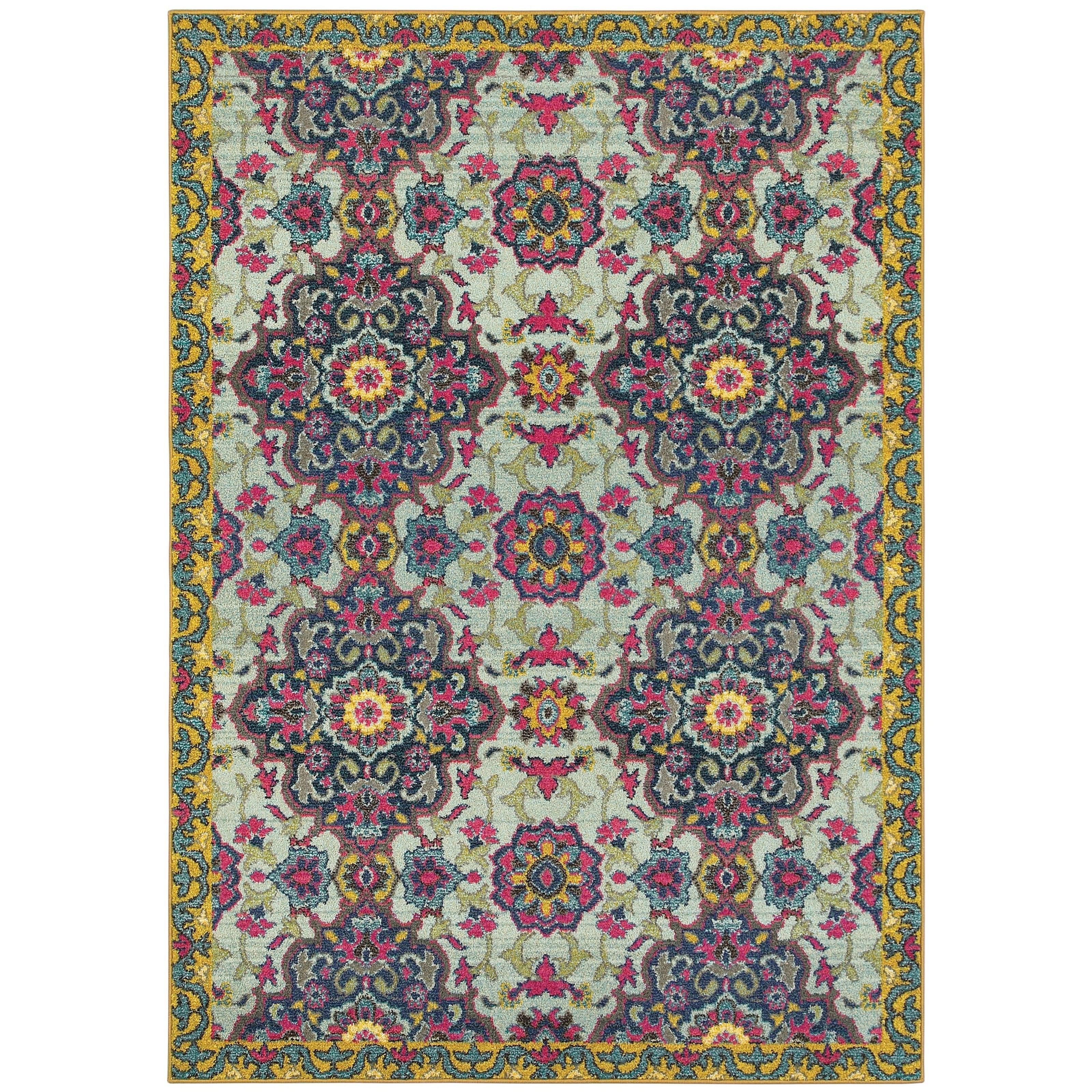 "Oriental Weavers Bohemian 3'10"" X  5' 5"" Rectangle Rug - Item Number: BOH539E310X55"