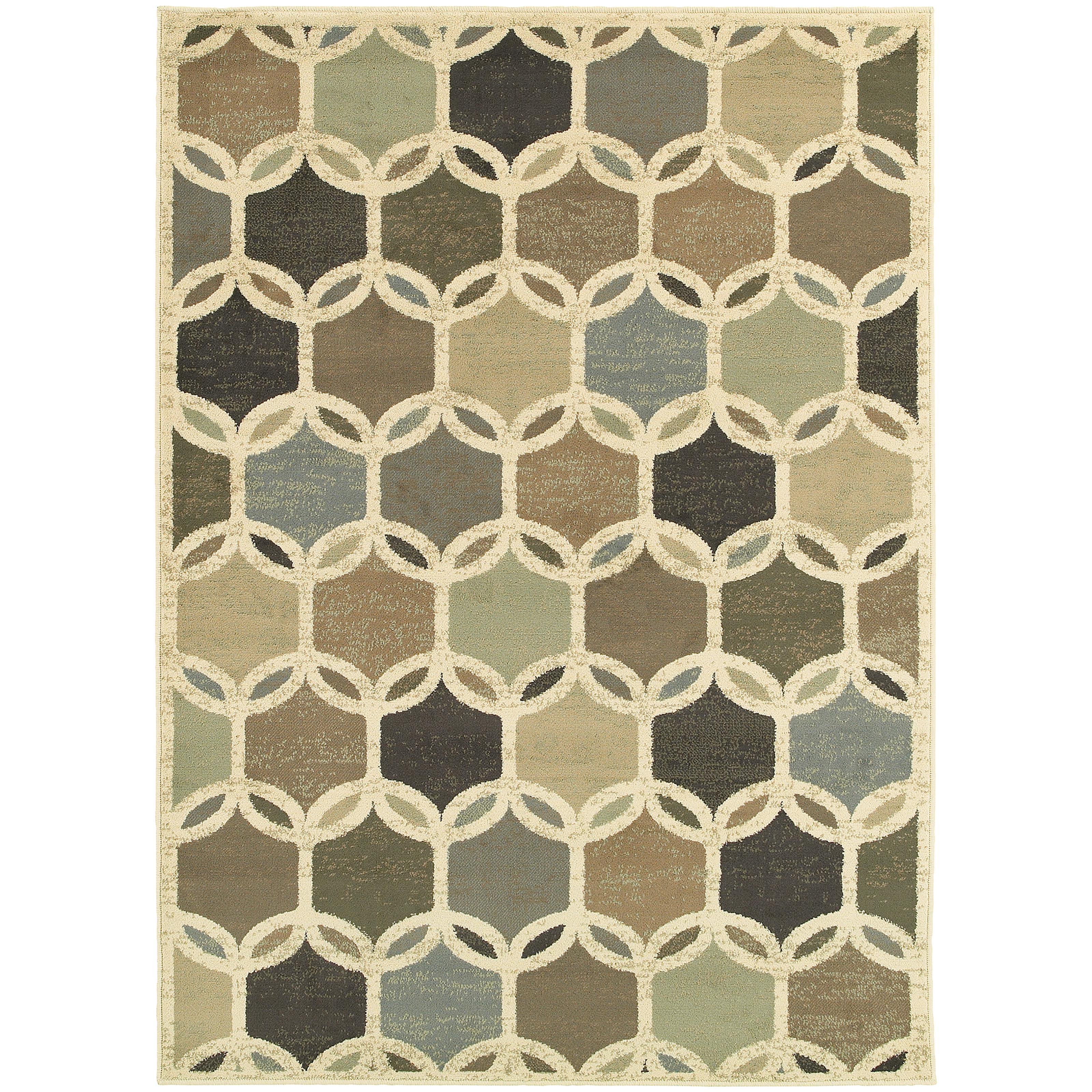 """Oriental Weavers Brentwood 3' 3"""" X  5' 5"""" Rug - Item Number: B090W9100165ST"""