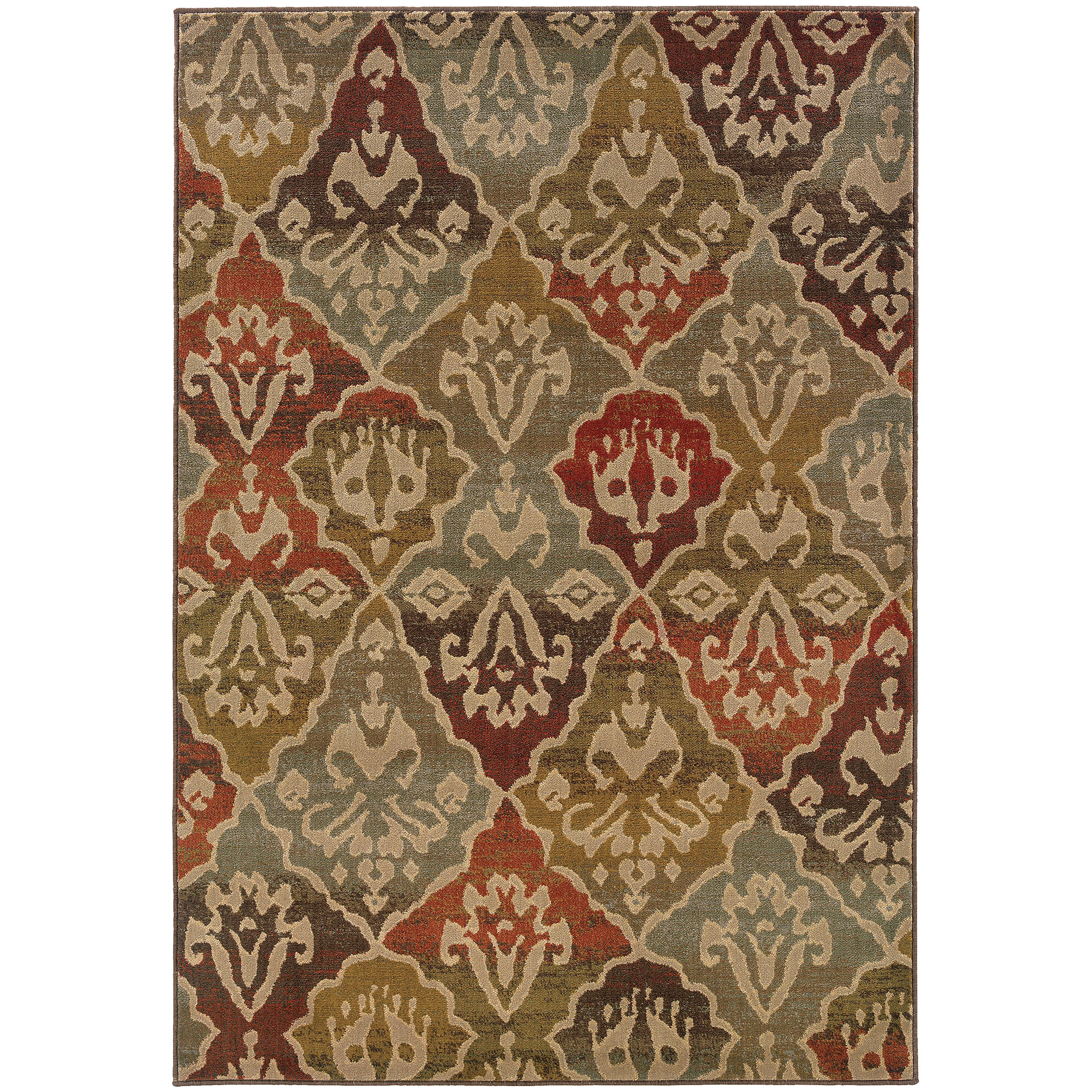 """Oriental Weavers Casablanca 3'10"""" X  5' 5"""" Rug - Item Number: C4442C117165ST"""
