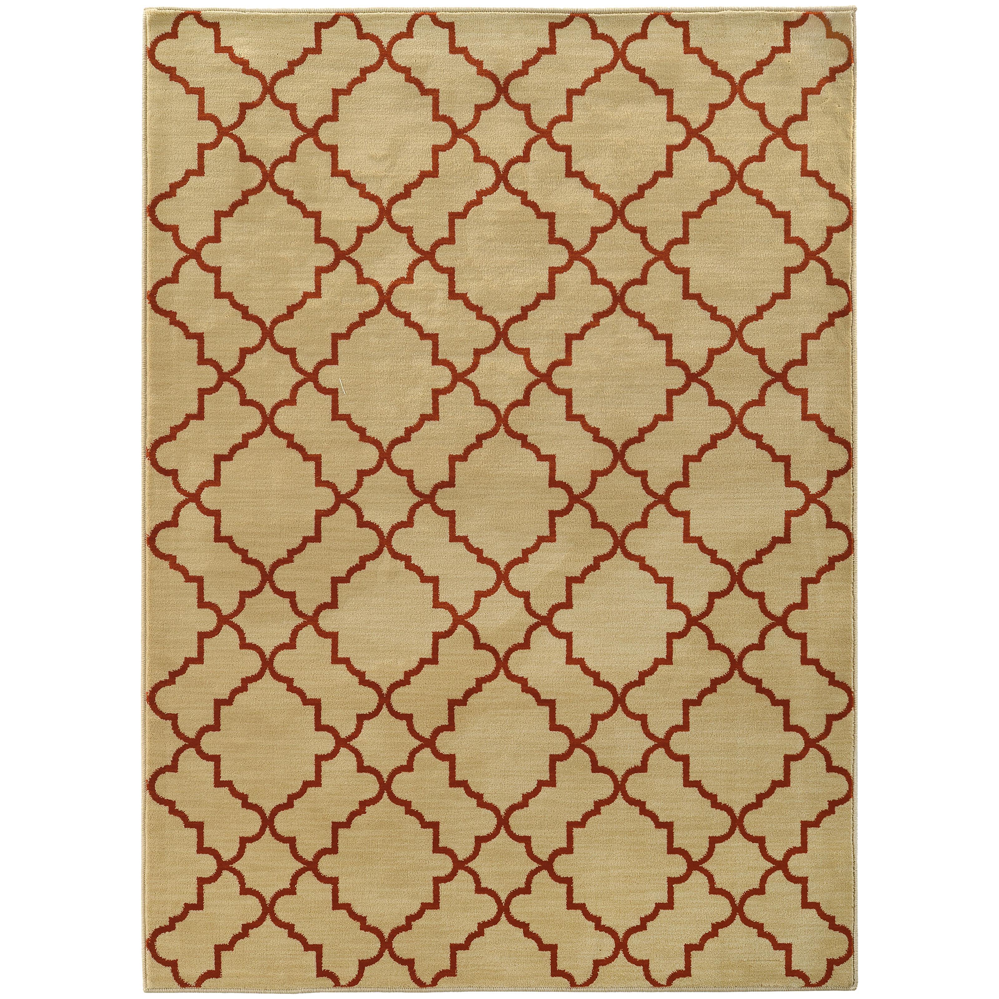 "Oriental Weavers Casablanca 3'10"" X  5' 5"" Rug - Item Number: C5178E117165ST"