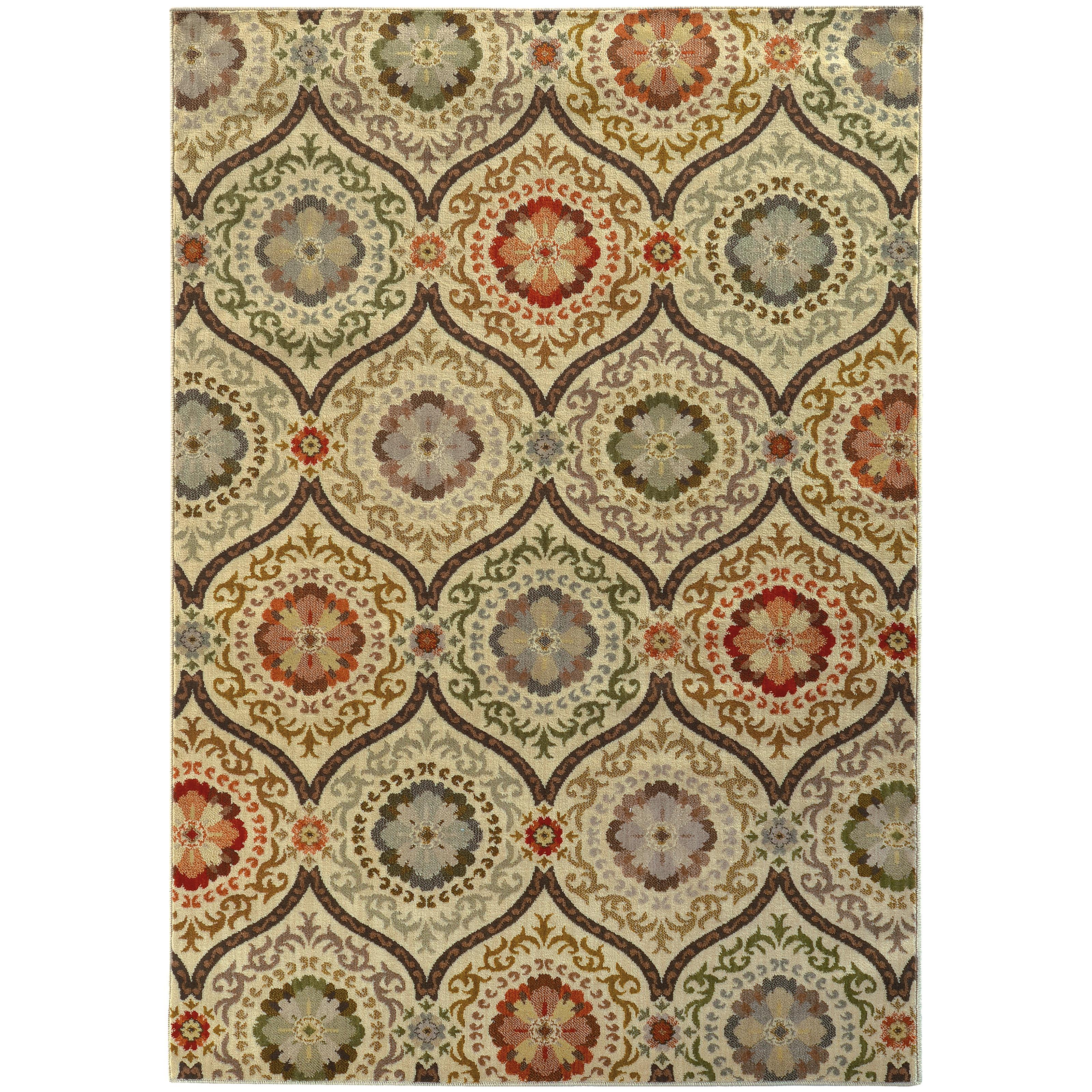"Oriental Weavers Casablanca 3'10"" X  5' 5"" Rug - Item Number: C5324A117165ST"