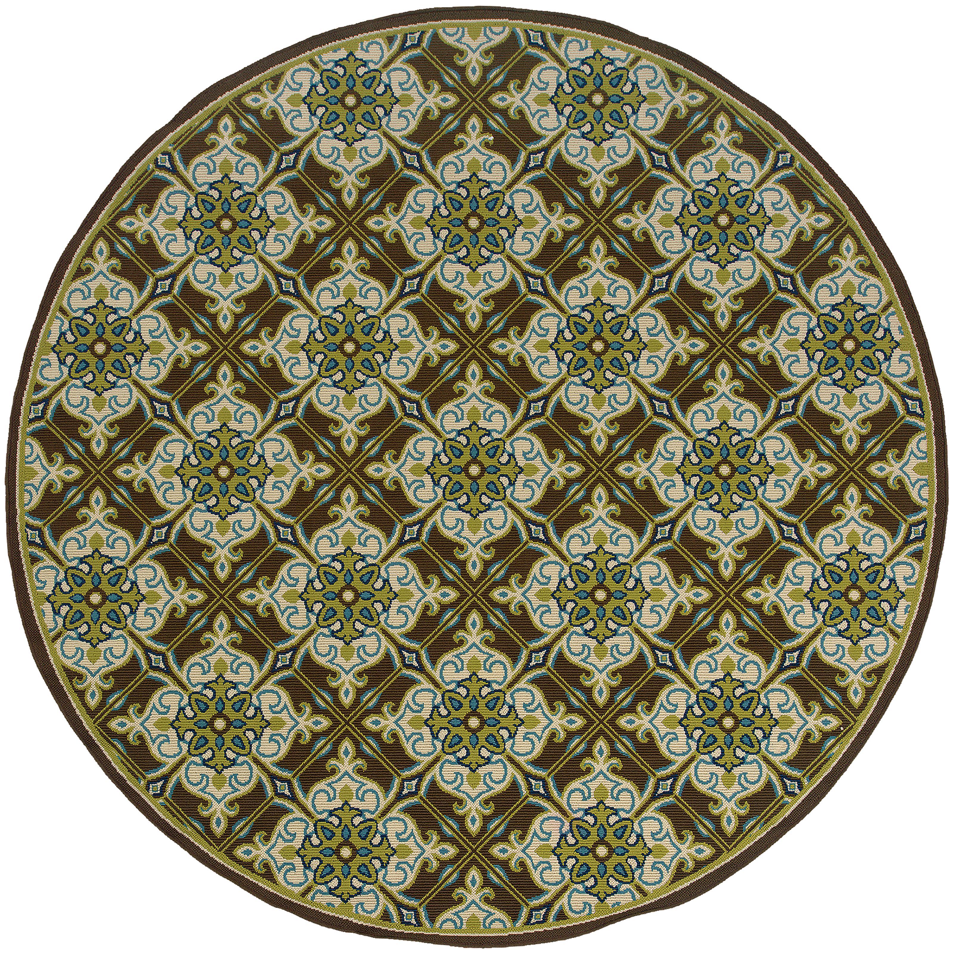 "Oriental Weavers Caspian 7'10"" Rug - Item Number: C1005D240RDST"