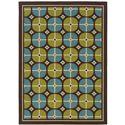 "Oriental Weavers Caspian 3' 7"" X  5' 6"" Rug - Item Number: C1447X110170ST"