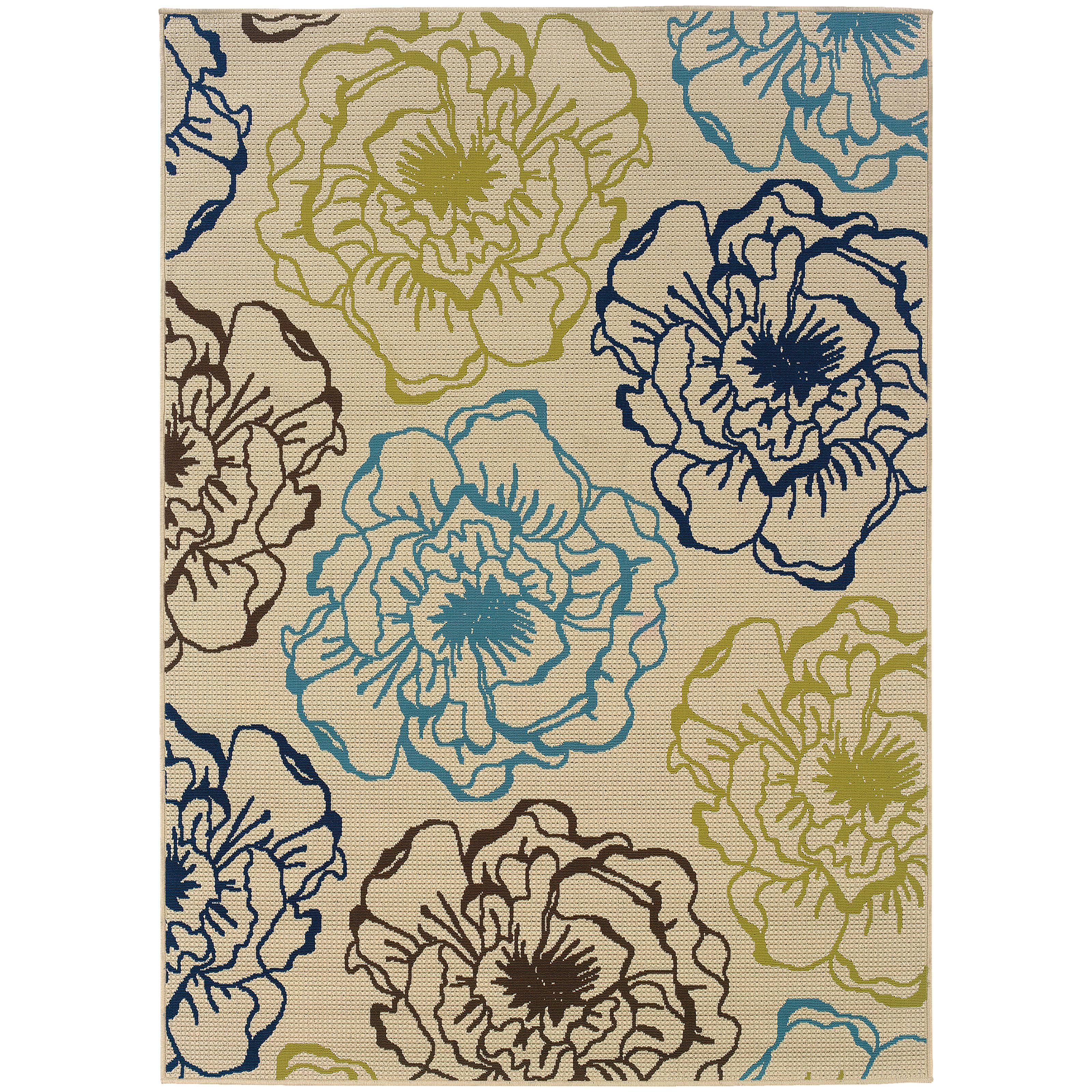"""Oriental Weavers Caspian 3' 7"""" X  5' 6"""" Rug - Item Number: C3065Y110170ST"""