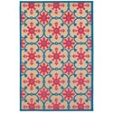"""Oriental Weavers Cayman 2' 3"""" X  7' 6"""" Outdoor Sand/ Pink Runner Rug - Item Number: CAY190L23X76"""