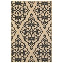"""Oriental Weavers Cayman 3'10"""" X  5' 5"""" Outdoor Sand/ Charcoal Rectan - Item Number: CAY1B310X55"""