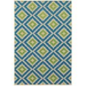 """Oriental Weavers Cayman 3'10"""" X  5' 5"""" Outdoor Sand/ Blue Rectangle  - Item Number: CAY2063Z310X55"""