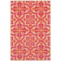 """Oriental Weavers Cayman 2' 3"""" X  7' 6"""" Outdoor Sand/ Pink Runner Rug - Item Number: CAY2541V23X76"""