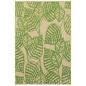 "Oriental Weavers Cayman 2' 3"" X  7' 6"" Outdoor Sand/ Green Runner Ru - Item Number: CAY566F23X76"