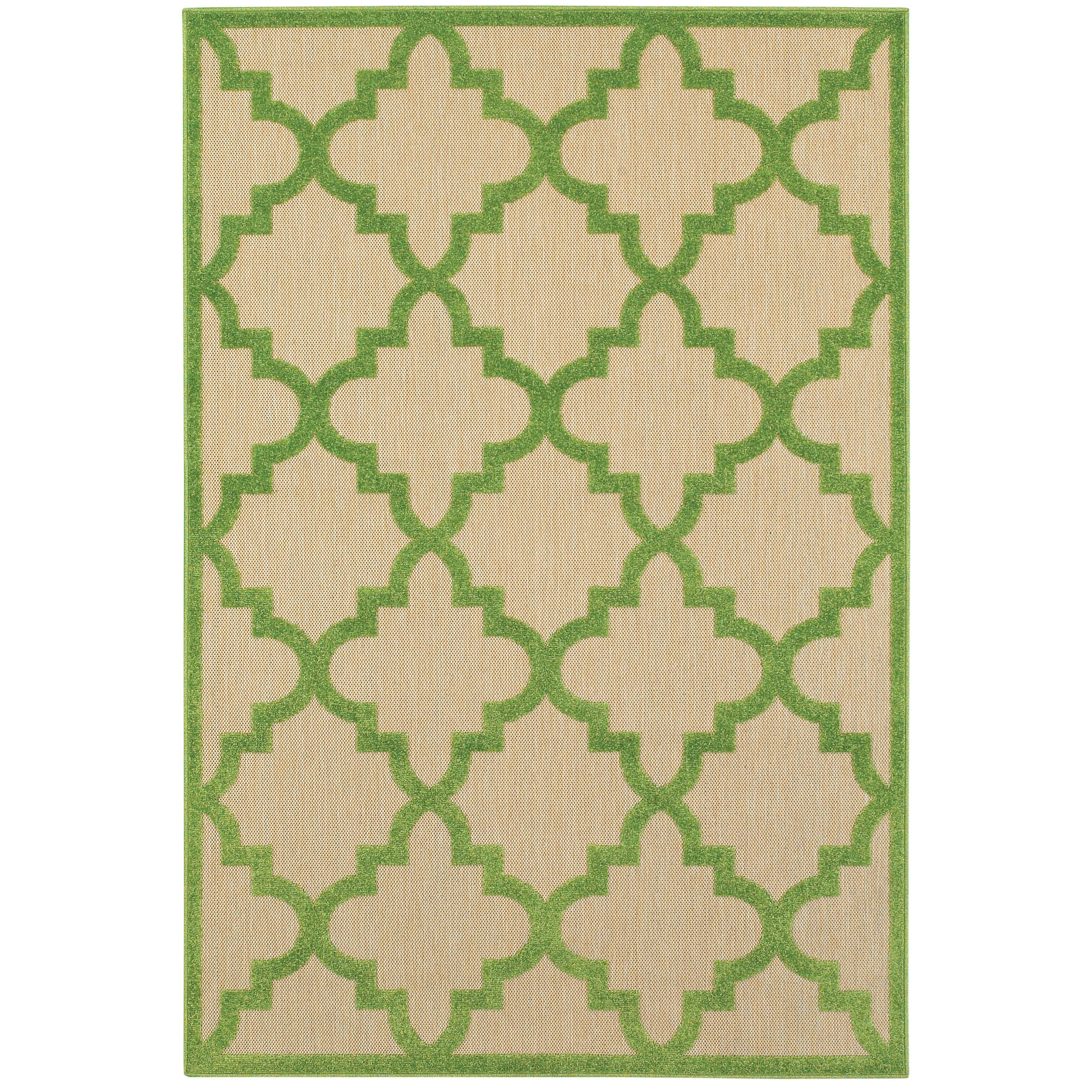 "5' 3"" X  7' 6"" Outdoor Sand/ Green Rectangle"
