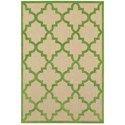 """Oriental Weavers Cayman 6' 7"""" X  9' 6"""" Outdoor Sand/ Green Rectangle - Item Number: CAY660F67X96"""