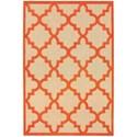 "Oriental Weavers Cayman 5' 3"" X  7' 6"" Outdoor Sand/ Orange Rectangl - Item Number: CAY660O53X76"
