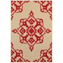 """Oriental Weavers Cayman 6' 7"""" X  9' 6"""" Outdoor Sand/ Red Rectangle R - Item Number: CAY97R67X96"""