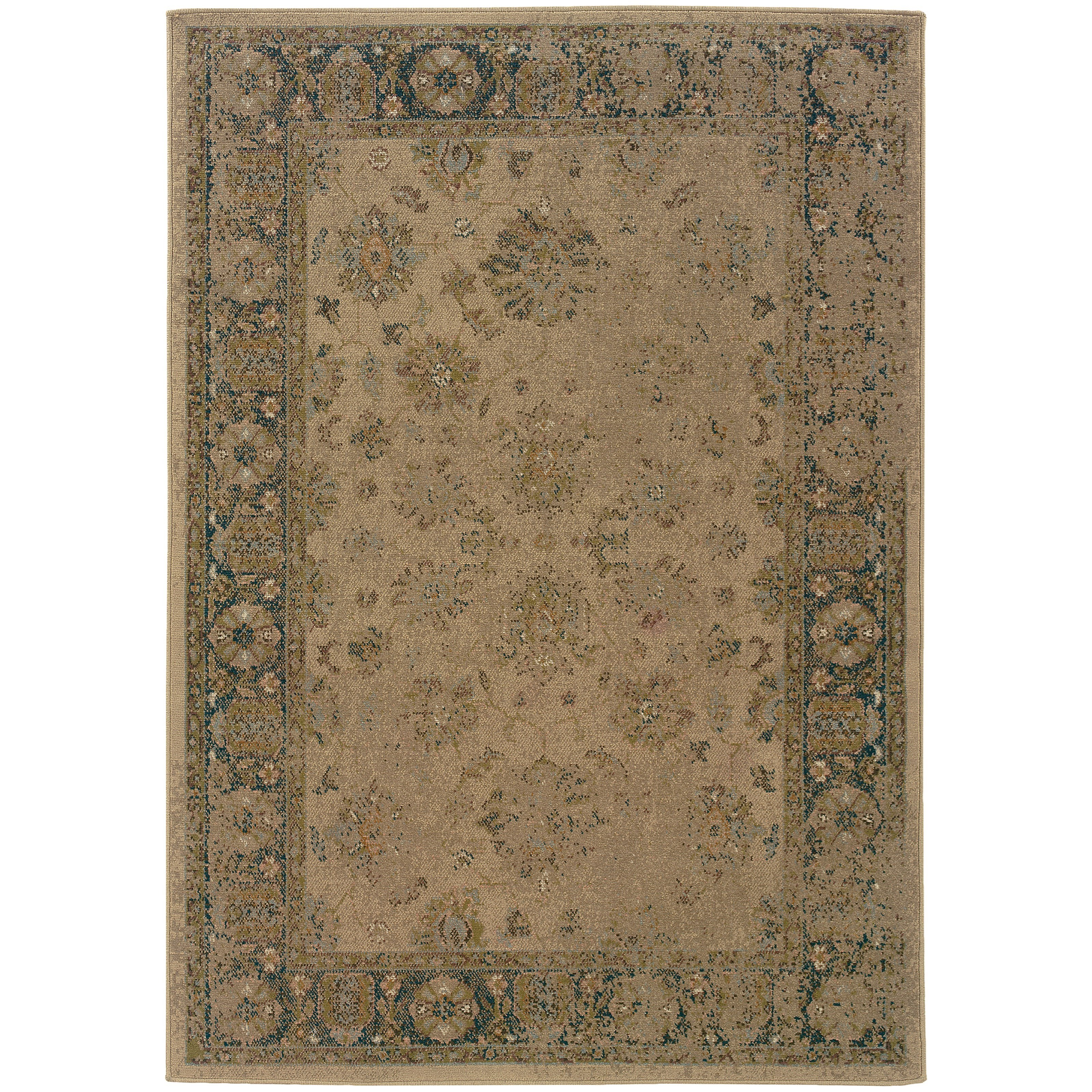 "Oriental Weavers Chloe 3'10"" X  5' 5"" Rectangle Area Rug - Item Number: CHL1382G310X55"