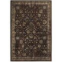 """Oriental Weavers Empire 3'10"""" X  5' 5"""" Traditional Brown/ Ivory Rect - Item Number: EMP113D310X55"""