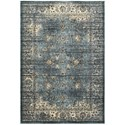 """Oriental Weavers Empire 3'10"""" X  5' 5"""" Traditional Blue/ Ivory Recta - Item Number: EMP114L310X55"""
