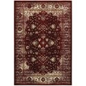 """Oriental Weavers Empire 3'10"""" X  5' 5"""" Traditional Red/ Ivory Rectan - Item Number: EMP114R310X55"""