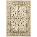 "Oriental Weavers Empire 5' 3"" X  7' 6"" Traditional Ivory/ Gold Recta - Item Number: EMP114W53X76"
