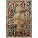 """Oriental Weavers Empire 2' 3"""" X  7' 6"""" Casual Gold/ Red Runner Rug - Item Number: EMP21J23X76"""