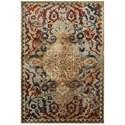 "Oriental Weavers Empire 6' 7"" X  9' 6"" Casual Gold/ Red Rectangle Ru - Item Number: EMP21J67X96"